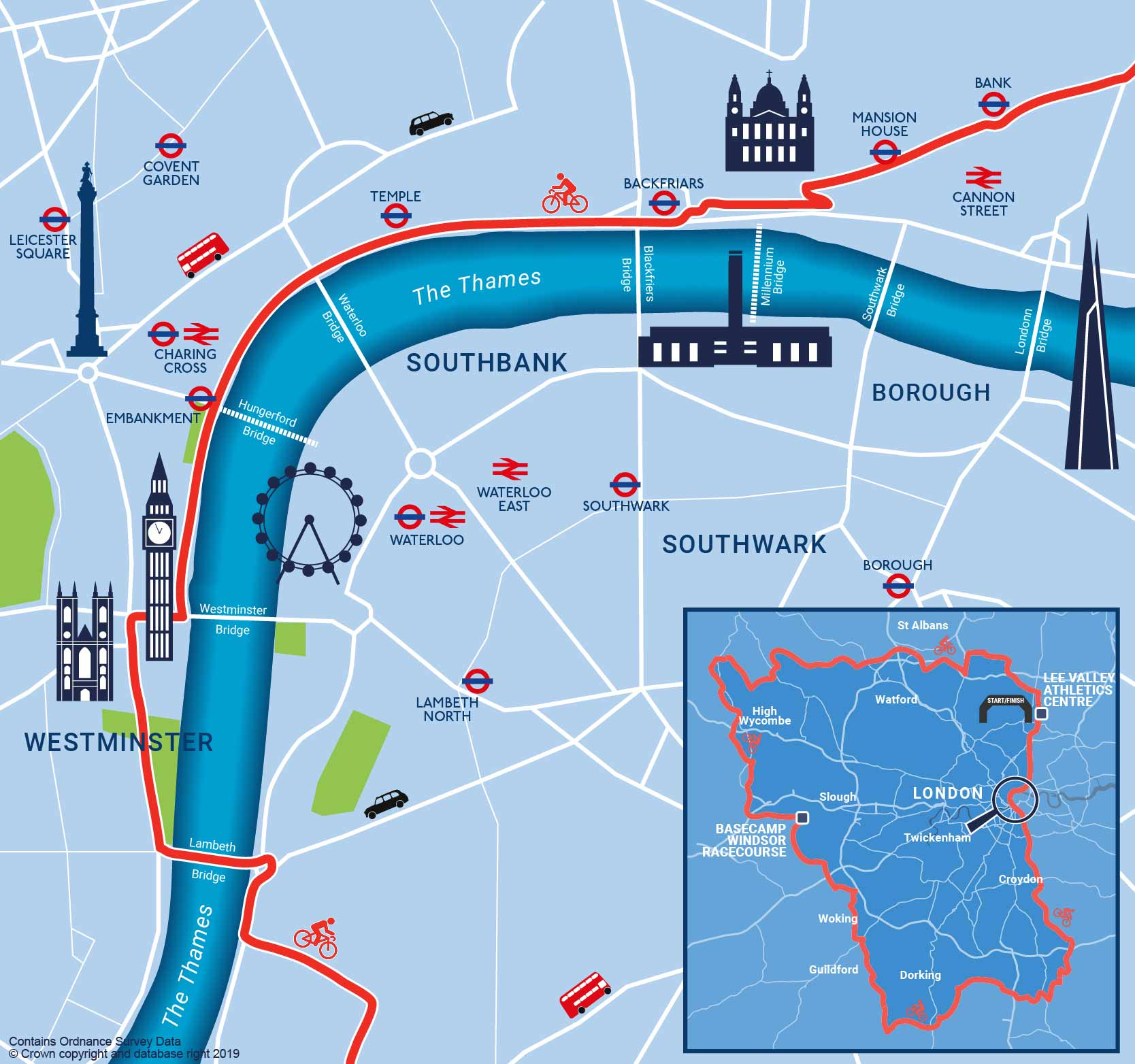 New london route map