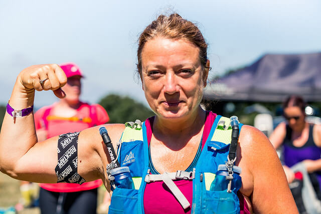 Women with RockTape on her arm
